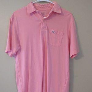 Pink Vineyard Vines Golf Shirt (Pima Cotton)